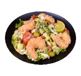 Салат з креветками і солодким Чилі